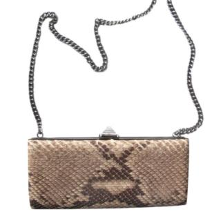 Christian Louboutin Natural Snakeskin Clutch on Chain