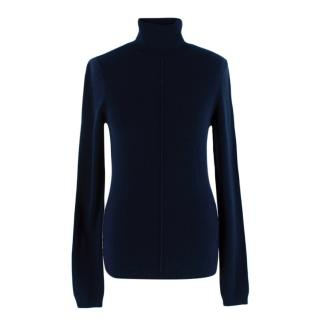 Frame Navy Cashmere Turtleneck Sweater