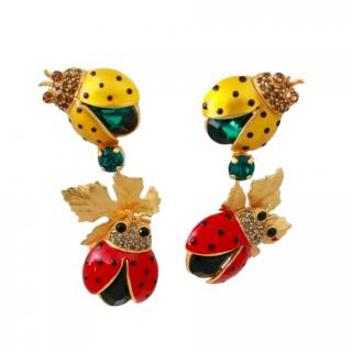 Dolce & Gabbana Lady Bird Drop Earrings