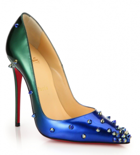 Christian Louboutin Degraspike Studded Ombr� Leather Pumps