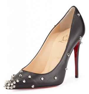 Christian Louboutin Black Degraspike Studded Leather Pumps