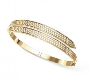 Ehthele 18ct yellow Gold Diamond Icon Twin Bracelet