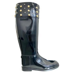 Moschino Cheap & Chic Studded Rain Boots