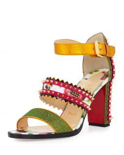 Christian Louboutin Montezumina Multi Patent Mosaique Sandals