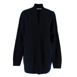 Vince Navy Knitted Cashmere Open Cardigan