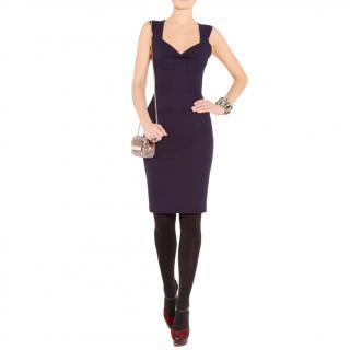 Roland Mouret Navy Lush Stretch Dress