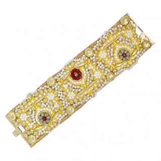 Sveva Embellished Gold Tone Cuff