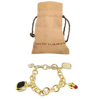 David Yurman Albion Collection 18ct Gold Charm Bracelet