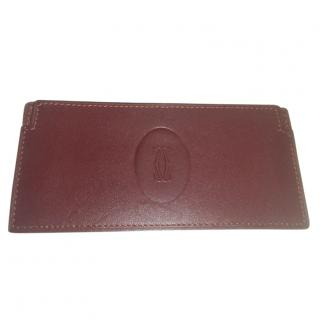 Cartier Bordeaux Leather Writing Case & Pad