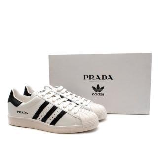Prada for Adidas Originals Superstar Leather Sneakers
