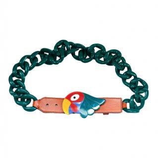 Prada Rare Parrot Plastic Chain Runway Belt/Necklace