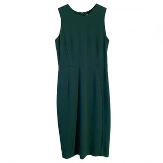 PAROSH Green Stretch Sleeveless Dress
