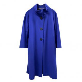 Escada Blue Fine Wool Overcoat