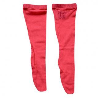 Gucci Pink Floral Lace Runway Socks