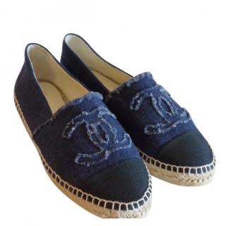 Chanel Navy Denim Espadrilles