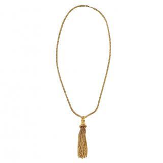 Dior Vintage Gold Plated Tassel Necklace