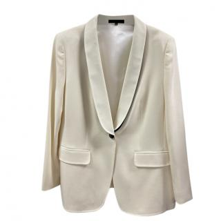 Escada Ivory Tailored Jacket with Contrast Collar
