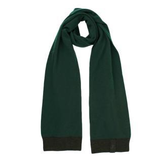 Louis Vuitton Green Cashmere Knit Scarf