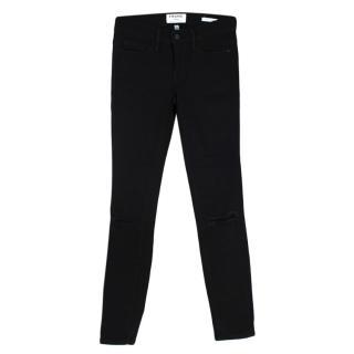 Frame Black Le Skinny de Jeanne Distressed Jeans