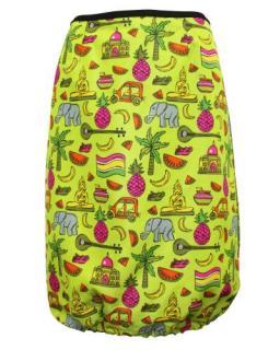Prada Neon Tropical Thai Print Skirt
