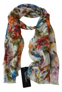 Dolce & Gabbana Floral Vine Print Silk Scarf