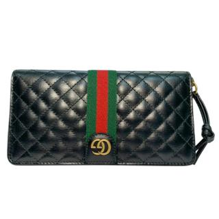 Gucci Black Quilted Leather Ophidia Zip-Around Wallet
