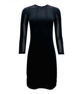 Rag & Bone Black Mesh Panel Mini Dress