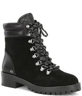 Coach Lorren Suede & Leather Lace Up Hiker Boots