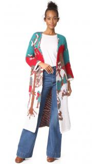 Stella Jean Multicoloured Intarsia Wool Cardigan