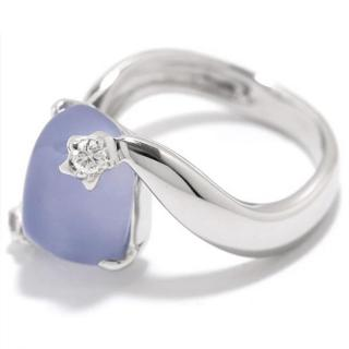 Chanel 18kt White Gold Chalcedony & Diamond Com�te Ring
