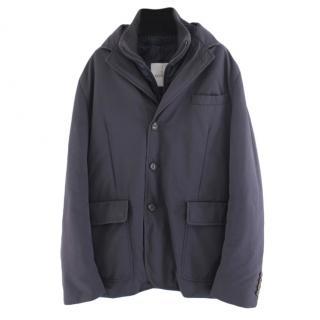 Moncler Blue Down Louis Mens Coat