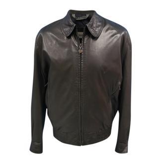 Bally men�s black leather jacket