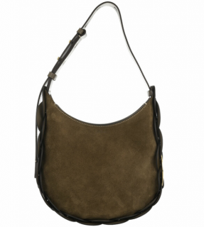 Chloe Army Green Suede Small Darryl Hobo Bag