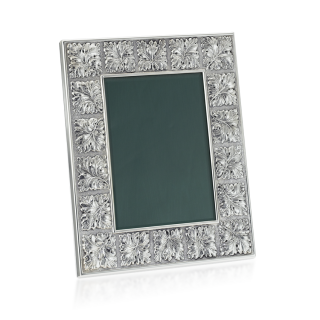 Buccellati Sterling Silver and Leather Ivy Photo Frame