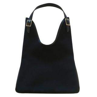 Hermes Black Canvas Maasai Tote Bag