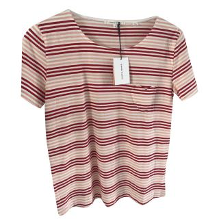 Chinti & Parker Striped Heart Patch Top