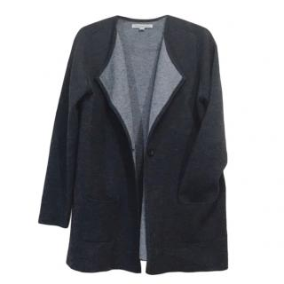Catherine Malandrino black wool blend belted cardigan