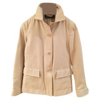 Loro Piana Beige Cotton & Suede Jacket