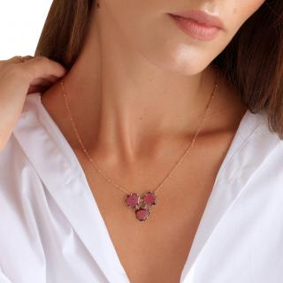 Annoushka Shard 18ct Rose Gold Garnet Necklace
