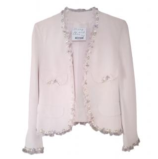 Moschino Cheap & Chic Pale Pink Floral Trim Jacket