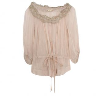 Isabel Marant Beige Embroidered Blouse