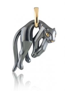 Cartier 18kt Hanging Panther Pendant