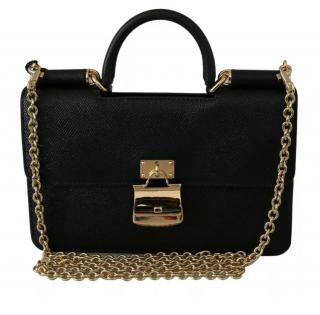 Dolce & Gabbana Black Sicily Phone Wallet On Chain
