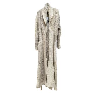 Ralph Lauren Hand Made Cable Knit Longline Cardigan