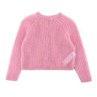 il Gufo Pink Mohair Blend Sweater