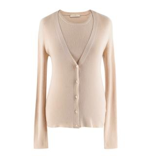 Prada Cream Cashmere Knit Twin-Set