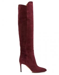 Aquazzura Gainsbourg 85 suede knee-high boots