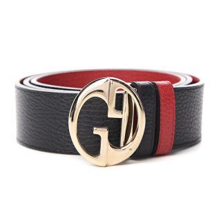 Gucci Dollar Calfskin Interlocking G Reversible Belt - size 100