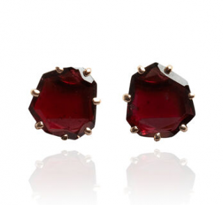Annoushka Shard 18ct Rose Gold Garnet Stud Earrings