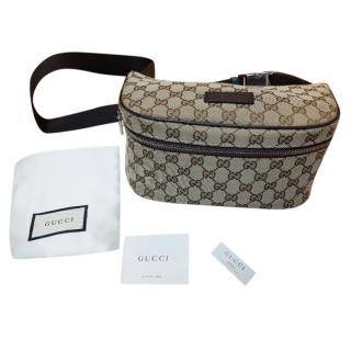 Gucci Monogram Canvas Crossbody Belt Bag